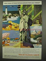 1957 United Aircraft Corporation Ad - Famous Places
