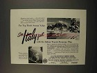 1957 Italy Tourism Ad - For Top Thrift Season Value
