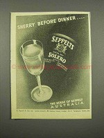 1957 Seppelts Solero Sherry Ad - Before Dinner