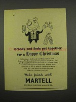 1957 Martell Cognac Ad - Brandy And Soda Get Together