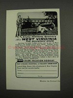 1957 West Virginia Tourism Ad - Cacapon Lodge