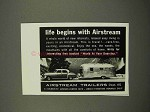 1957 Airstream Trailer Ad - Life Begins With