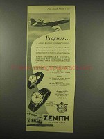 1956 Zenith Ref. 206, Ref. 302 Watch Ad - Progress