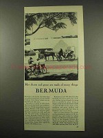 1956 Bermuda Tourism Ad - Her Charm and Grace