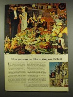 1956 Britain Tourism Ad - You Can Eat Like a King
