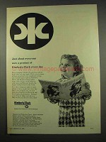 1956 Kimberly-Clark Paper Ad - About Everyone Uses