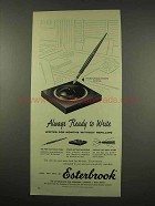 1956 Esterbrook Pen Ad - Ready to Write