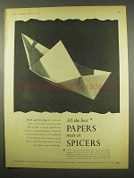 1956 Spicers Limited Paper Ad - All The Best