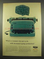 1956 Royal Electric Typewriter Ad, Increased Production