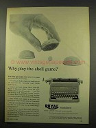 1956 Royal Standard Typewriter Ad - Why Shell Game?