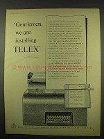 1956 Telex Teleprinter Ad - We Are Installing