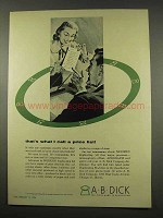 1956 A.B. Dick Duplicating Machine Ad - A Price List