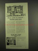 1956 Ozalid Copy Machine Ad - Order to Invoice