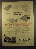 1956 Ozalid Copy Machine Ad - How Much Does it Cost