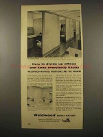 1956 Weldwood Partitions Ad - Divide Up Offices