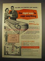 1956 Apeco Auto-Stat Copier Ad - The Right Way