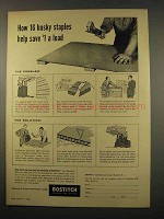 1956 Bostitch Staplers Ad - Help save $1 a Load