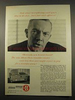 1956 Burroughs Microfilm Micro-Twin Recorder-Reader Ad - Blue in Face