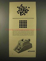 1956 Olivetti Duplex Adding Machine Ad