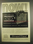 1956 Multigraph 1250 Multilith Offset Duplicator Ad