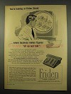 1956 Friden Calculator Ad - Figures Sit Up and Talk