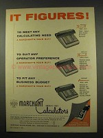 1956 Marchant Calculator Ad, Figuremaster 10EFA  AB10FA