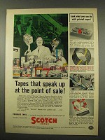 1956 3M Scotch Tape Ad - Speak At The Point of Sale