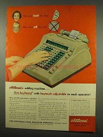 1956 National Adding Machine Ad - Live Keyboard