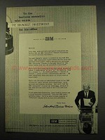 1956 IBM Executive Electric Typewriter Ad - Investment