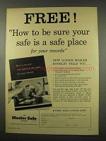 1956 Mosler Safe Ad - Be Sure Your Safe is a Safe Place