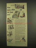 1956 Pitney-Bowes DM Postage Meter Ad - Every Office