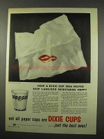 1956 Dixie Cup Ad - Helped Keep Secretaries Happy