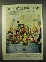 1956 Hilton Hotels Ad - Lead The Way in Fine Food