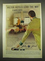 1956 Hilton Hotels Ad - Lead The Way In Guest Rooms