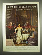 1956 Hilton Hotels Ad - Lead the Way in Entertainment
