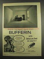 1956 Bufferin Tablets Ad - Headache? Cold Miseries?