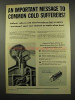 1956 Bufferin Tablets Ad - Common Cold Sufferers