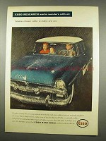 1956 Esso Research Ad - Oil-Made Rubber in Cars