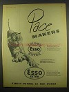1956 Golden Esso Extra Petrol Ad - Pace Makers