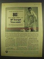 1956 BP Energol Visco-static Motor Oil Ad - Atomic