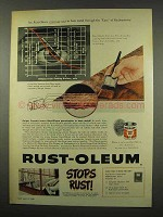 1956 Rust-Oleum Paint Ad - Eyes of Radioactivity