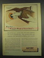 1956 Mallory Electronics Ad - Woman's Work Never Done