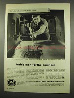 1956 3M EC-321 Adhesive Ad - Inside Man for Engineer