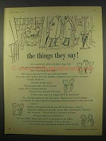 1956 Imperial Chemical Industries Ad - The Things They Say