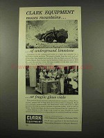 1956 Clark Equipment Ad - Tractor Shovel, Powrworker