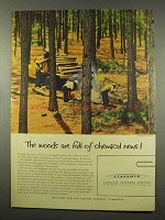 1956 American Cyanamid Ad - Woods Are Full of Chemical