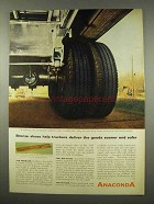 1956 Anaconda Bronze Ad - Shoes Help Truckers Deliver
