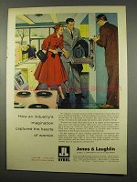 1956 Jones & Laughlin Steel Ad - Hearts of Women