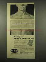 1956 Raytheon Electrocardiograph Ad - Read Your Heart