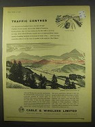 1956 Cable & Wireless Limited Ad - Traffic Centres